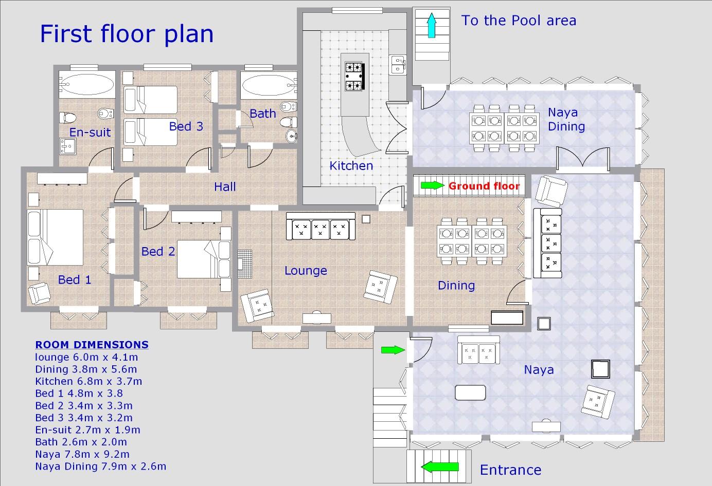 espazar first floor plan